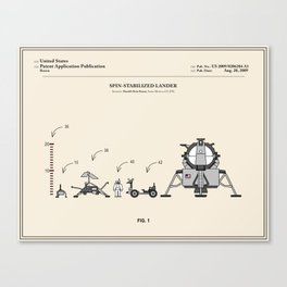Space Lander Patent Canvas Print