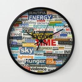 Man and Nature Wall Clock