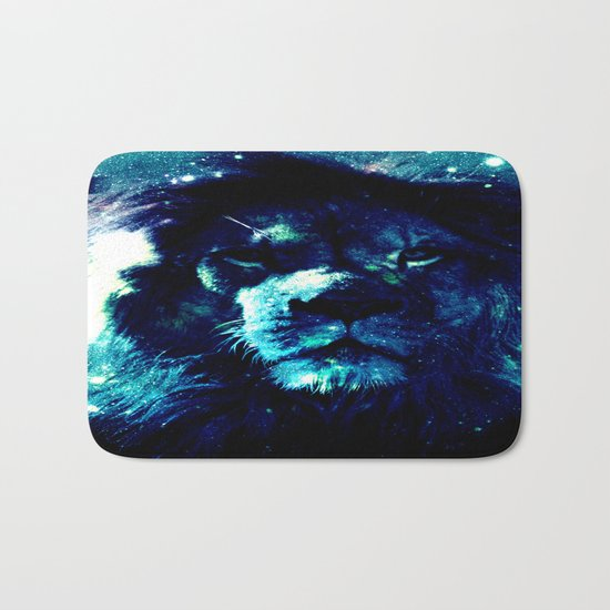 Galaxy Lion  Bath Mat