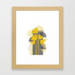 Yellow Ginkgo Biloba Leaves Framed Art Print