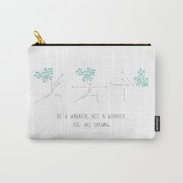 Cartoon drawing of a happy tree doing yoga Carry-All Pouch