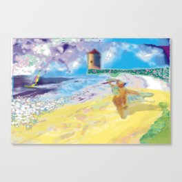 Côte Sauvage at the Atlantic in France. Canvas Print