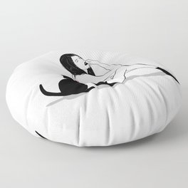 cat therapy 2 Floor Pillow