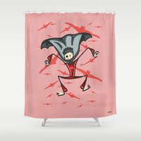 vampire Shower Curtains featuring Vampire by Giuseppe Lentini