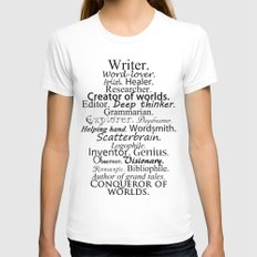Writer Womens Fitted Tee MEDIUM White