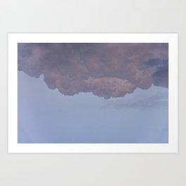 Under soft pink clouds Art Print
