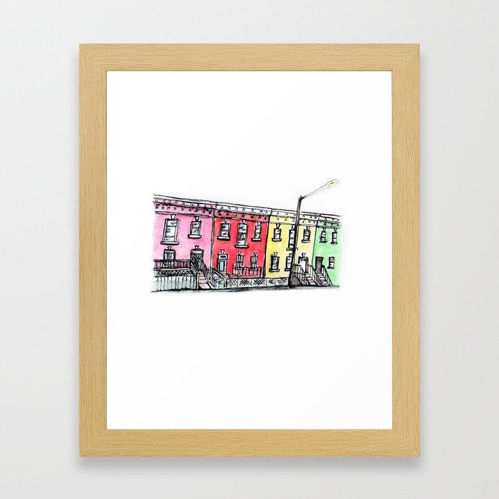 DC row house no. 1 II Columbia Heights Framed Art Print