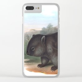 Wombat in the nature of Australia Clear iPhone Case