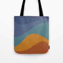 Abstract Color Waves - Vibrant Rainbow Tote Bag