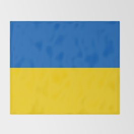 National flag of Ukraine, Authentic version (to scale and color) Throw Blanket