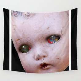 Red-Eyed Mentalembellisher Halloween Doll Wall Tapestry