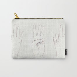 Three Threes Carry-All Pouch
