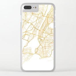 NEW YORK CITY NEW YORK CITY STREET MAP ART Clear iPhone Case