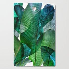 Palm leaf jungle Bali banana palm frond greens Cutting Board