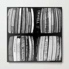 The Bookshelf - Through The Viewfinder (TTV) - Polyptych Metal Print