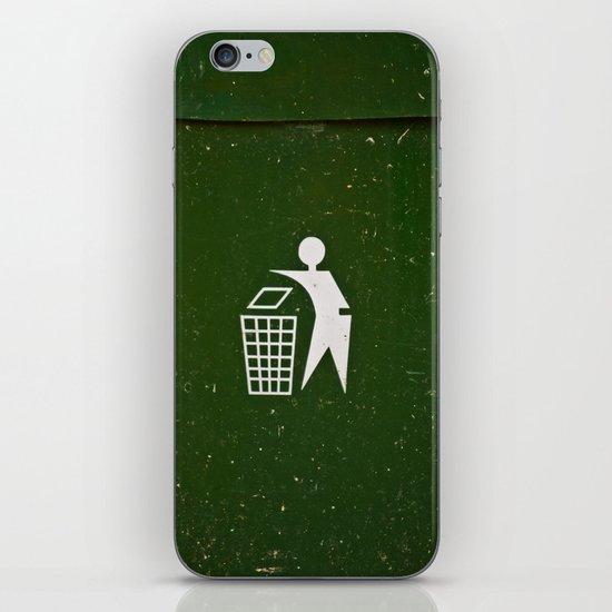 Trash - Put here please! iPhone & iPod Skin
