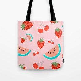 Fruit Salad (Pastel Pink) Tote Bag