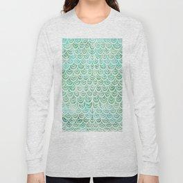 Watercolor Mermaid Long Sleeve T-shirt