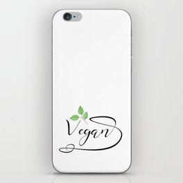 Vegan health plantbased herbivore lifestyle iPhone Skin