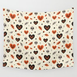 I Heart Fall Pattern Wall Tapestry