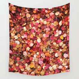 Christmas Leaves in Sonoma County Wall Tapestry