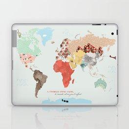 World map - le monde est un jeu d'enfant Laptop & iPad Skin