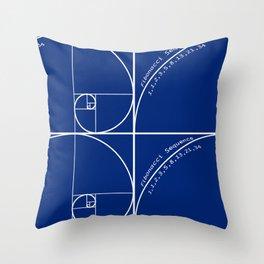Fibonacci Sequence Throw Pillow