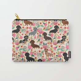 Dachshund floral dog breed pet patterns doxie dachsie gifts must haves Carry-All Pouch