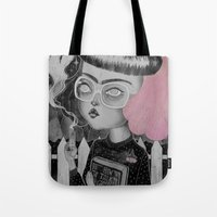 loll3 Tote Bags featuring Strange and Unusual by lOll3