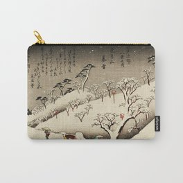 Lingering Snow at Asukayama Japan Carry-All Pouch
