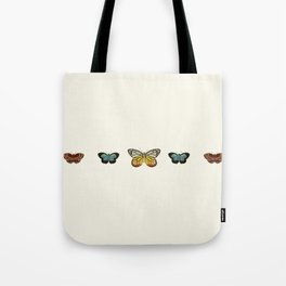 Butterfly Collage Horizontal Tote Bag