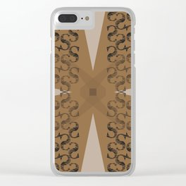 S pattern Clear iPhone Case