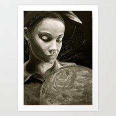 Lamentation BW Art Print