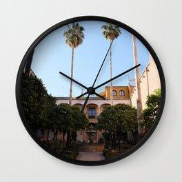 Rose Garden in the Royal Alcazar I Sevilla, Spain I Travel Photography Wall Clock