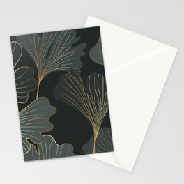 Ginkgo leaves seamless pattern Stationery Cards