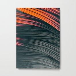 Ember Strands. Abstract Flowing Strands Design Metal Print