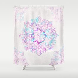 Winter Fiery Mandala Shower Curtain