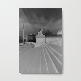 Stepping Up Metal Print