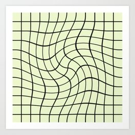 Plain Graph: Green Art Print