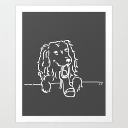 City Dogs: Shoe Diva {Truffle} Art Print