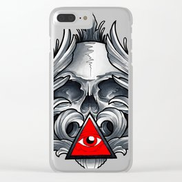 Filigree Skull Clear iPhone Case