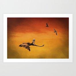 Pelican Heaven Art Print