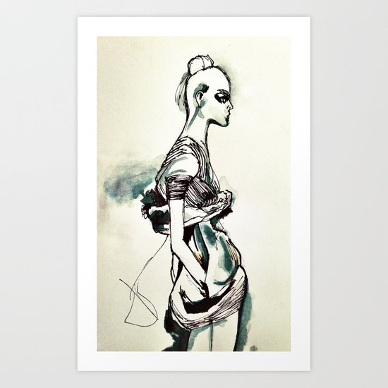 Fashion Shadow Art Print