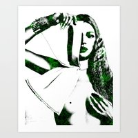 kate moss Art Prints featuring Kate Moss by fashionistheonlycure