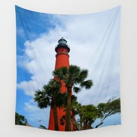 leon Wall Tapestries featuring Ponce De Leon Light by Dragons Laire