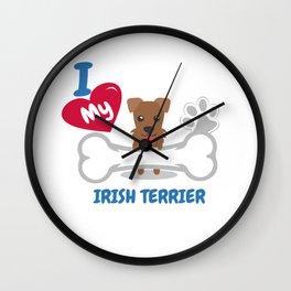 IRISH TERRIER - I Love My IRISH TERRIER Gift Wall Clock