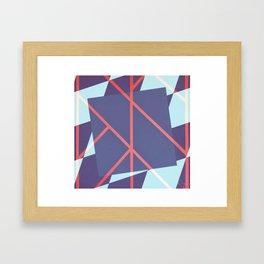 Leaf - diamond graphic Framed Art Print