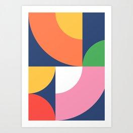 Abstract Geometric 17 Art Print