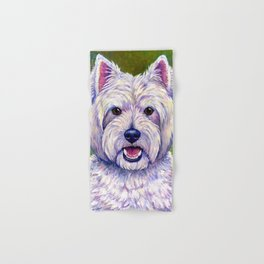 Colorful West Highland White Terrier Dog Hand & Bath Towel