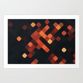 rhombus fantasy night embers Art Print